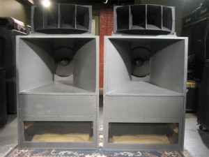 Our first speakers were on the big side: The legendary Altec A-7s.